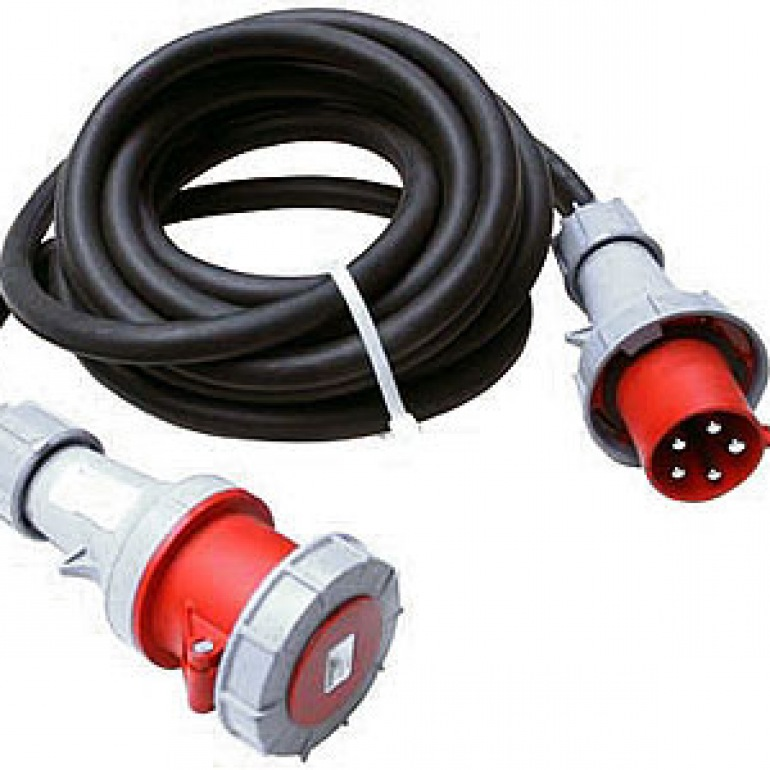63A 3 Phase plug and lead