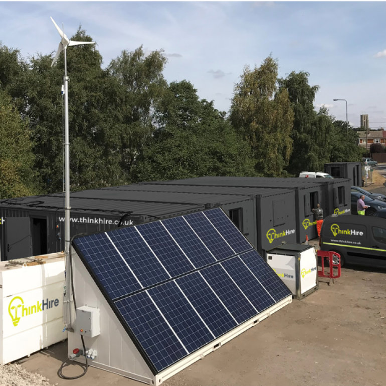 Solartainer and Eco Site Accommodation Set Up