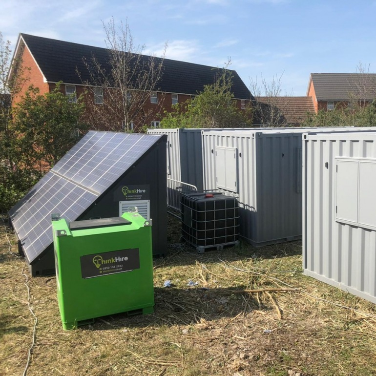 Solartainer and Eco Site Setup