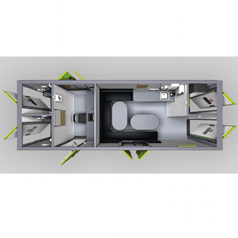 Eco Ten Person Canteen and Office - Twin Toilet